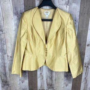 3/$25🛍️ Talbots Women's Pure Silk Blazer Jacket